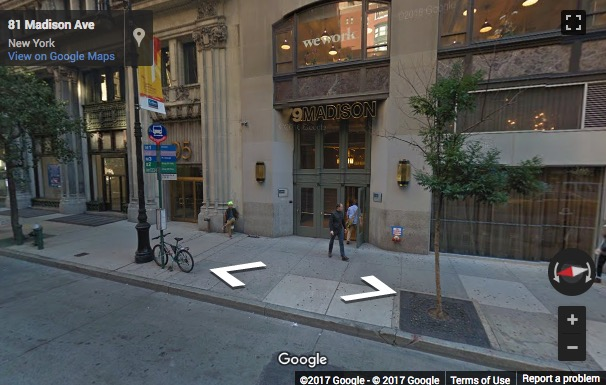 Street View image of 79 Madison Avenue, New York, New York State, USA
