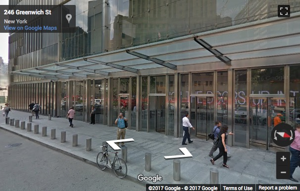 Street View image of 46th Floor, 7 World Trade Center, 250 Greenwich Street, New York, New York State, USA