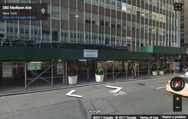 Street View image of 260 Madison Avenue, New York, New York State, USA