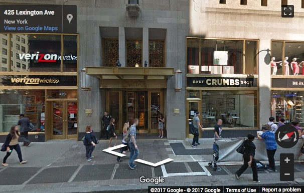 Street View image of 420 Lexington Avenue, The GrayBar Building, Suite 300, New York, New York State, USA