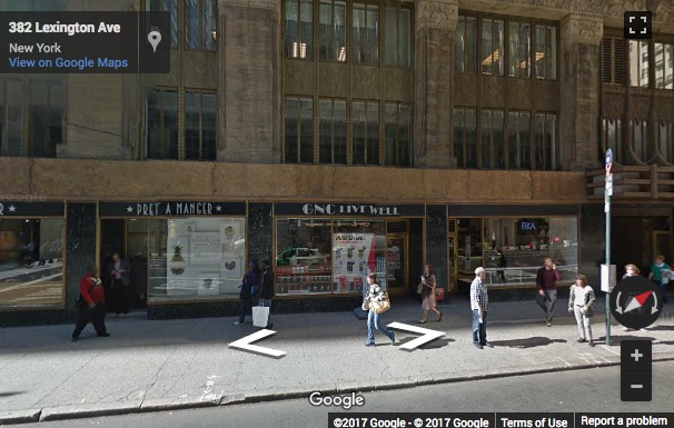 Street View image of 380 Lexington Avenue, Suite 1700, New York, New York State, USA
