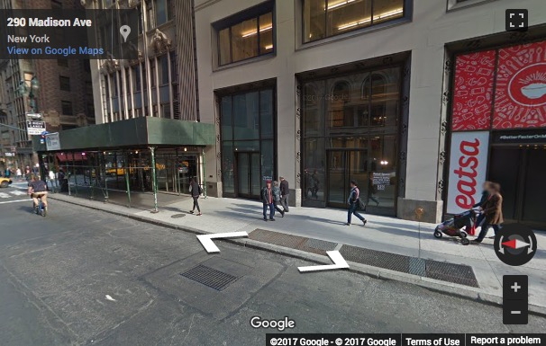 Street View image of 295 Madison Avenue, 12th Floor, New York, New York State, USA