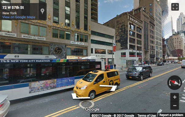 Street View image of 3rd and 4th Floors, 57 West 57th Street, New York, New York State, USA