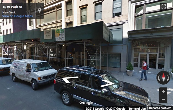 Street View image of 17 West 24th Street, New York, New York State, USA