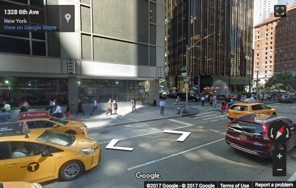 Street View image of 1325 Sixth Avenue, 27th & 28th Floor, New York, New York State, USA