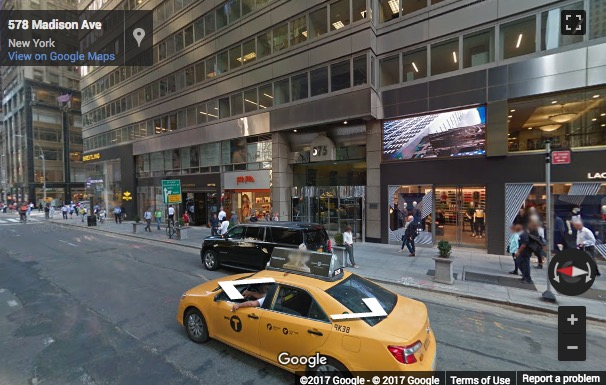 Street View image of 575 Madison Avenue, New York, New York State, USA