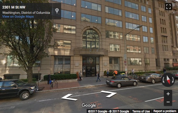 Street View image of 2300 M Street, North West, Suite 800, M Street Center, Washington DC, District Columbia, USA
