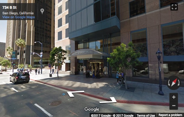 Street View image of Symphony Towers Suite 3300, 750 B Street, San Diego, California, USA