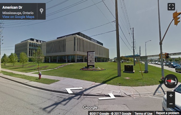 Street View image of 6205 Airport Road, Suite 300, Bldg. A, Mississauga, Ontario, Canada