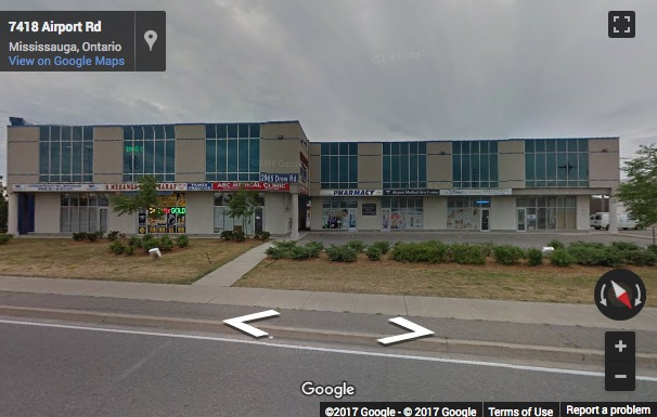Street View image of 2985 Drew Road, Suite 216, Mississauga, Ontario, Canada