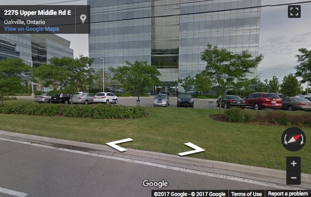 Street View image of Westbury Corporate Centre, 2275 Upper Middle Road E, Oakville, Ontario, Canada