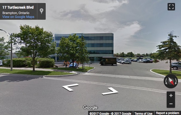 Street View image of 2 County Court Blvd., Suite 400, Brampton, Ontario, Canada