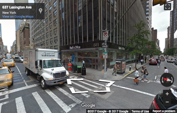 Street View image of 641 Lexington Avenue, 13th, 14th and 15th floors, New York, New York State, USA
