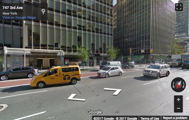 Street View image of 20th and 21st Floors, Corner of 47th Street, 757 Third Avenue, New York
