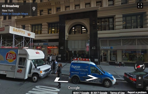 Street View image of 42 Broadway, Floor 12, New York, New York State, USA