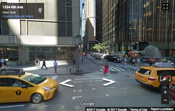 Street View image of 1345 Avenue of the America, 2nd Floor, New York, New York State, USA