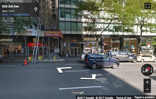 Street View image of 830 3rd Avenue, 5th Floor, New York, New York State, USA