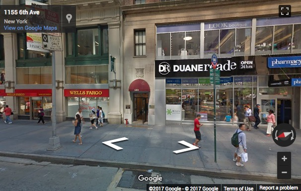 Street View image of 1150 6th Avenue, 6th Floor, New York, 10036, New York State, USA