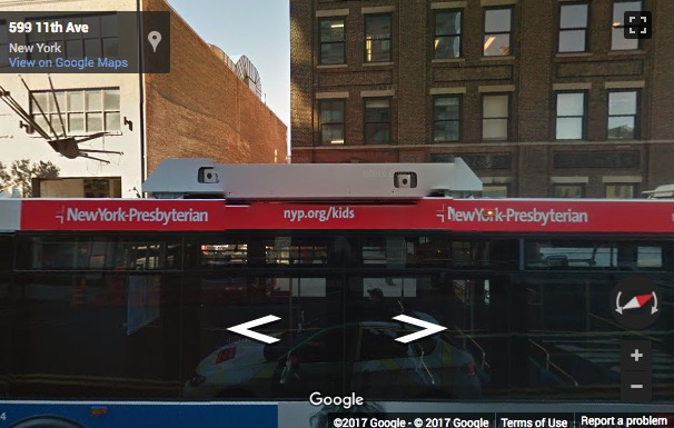 Street View image of 599 Eleventh Avenue, New York, New York State, USA