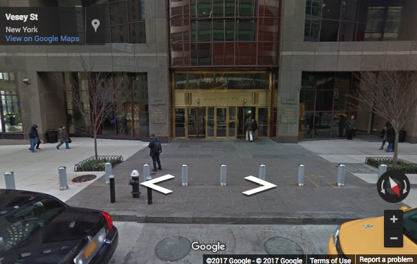 Street View image of 200 Vesey Street, 24th Floor, New York, New York State, USA