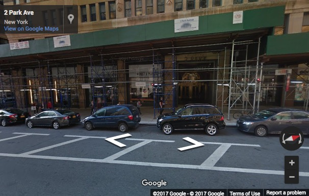 Street View image of 2 Park Avenue, New York, New York State, USA