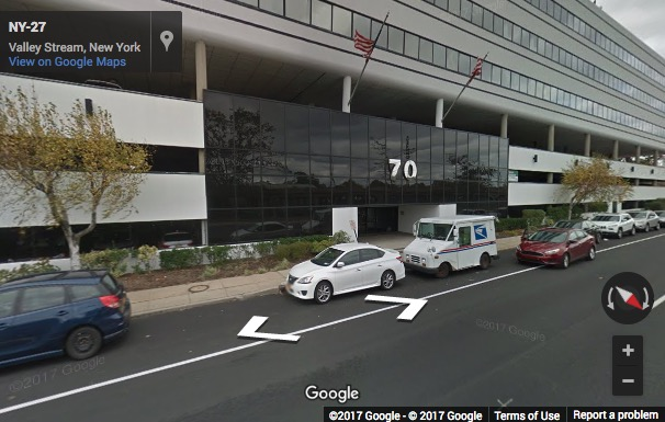 Street View image of 70 East Sunrise Highway, Suite 500, Valley Stream, New York, New York State, USA