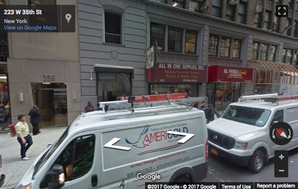 Street View image of 224 West 35th street, New York, New York State, USA