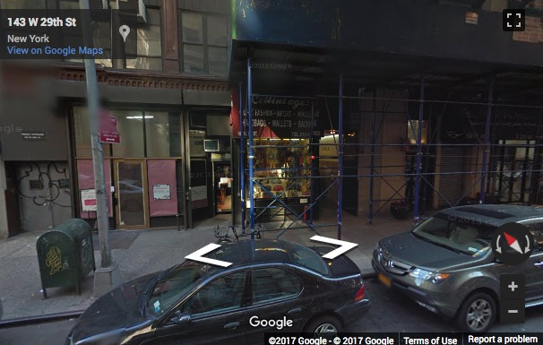 Street View image of 143 W 29th St, 5 Fl, New York, New York State, USA