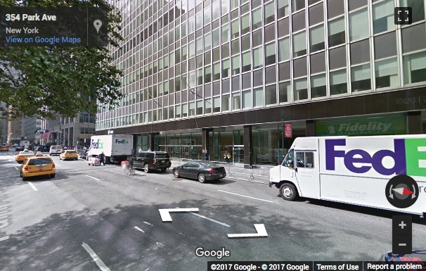 Street View image of 350 Park Avenue, 13th Floor, New York City, New York, New York State, USA