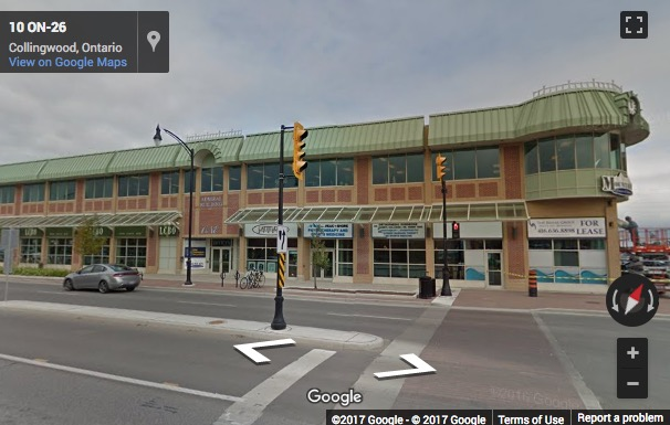 Street View image of 1 First Street, Suite 220, Collingwood, Barrie, Ontario, Canada