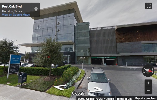 Street View image of 1700 Post Oak Boulevard, 2 BLD Place, Suite 600, Houston, Texas, USA