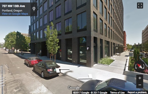 Street View image of 1455 NW Irving Street, NW 14th Avenue, The Pearl West Building, Portland (Oregon)