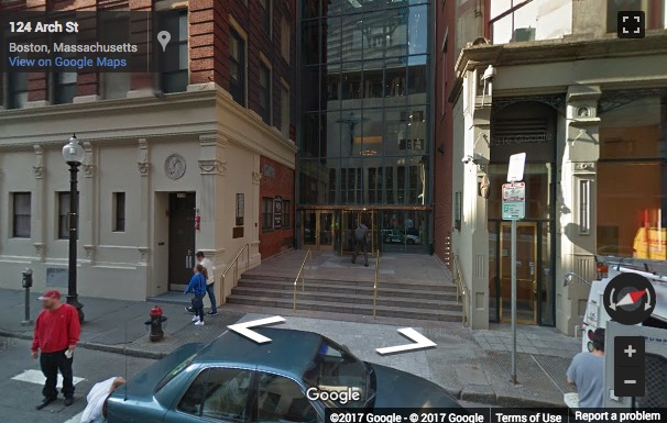 Street View image of 101 Arch Street, 8th Floor, Boston, Massachusetts, USA