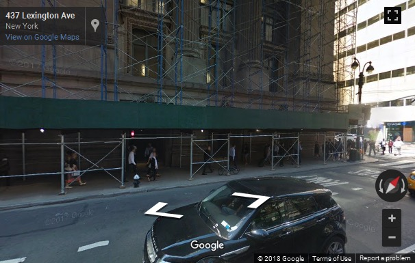 Street View image of 450 Lexington Avenue NY, 4th Floor, WeWork Grand Central, New York, New York State, USA