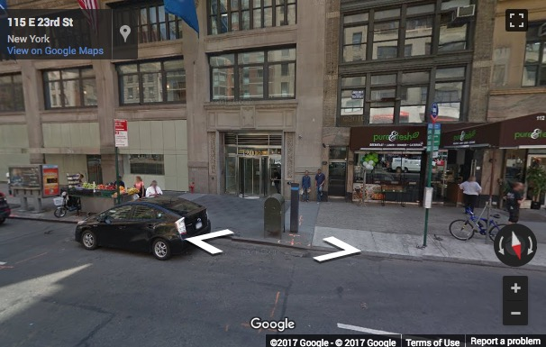 Street View image of 120 East 23rd Street, Gramercy, New York, New York State, USA