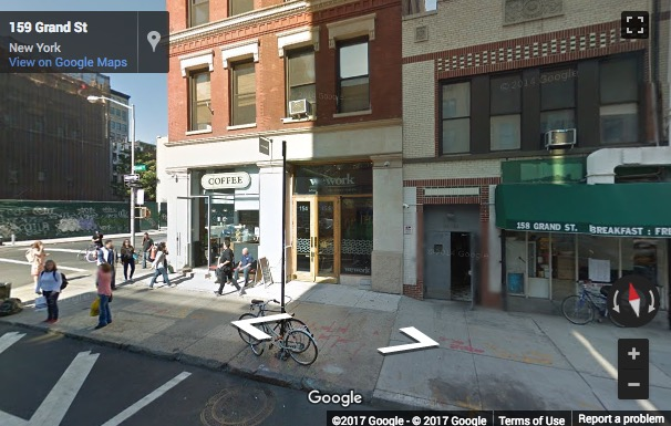 Street View image of 154 Grand Street, 1st Floor, New York, New York State, USA