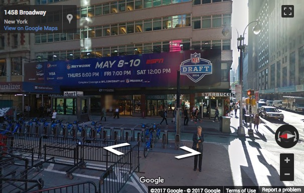 Street View image of 1460 Broadway, Times Square, New York, New York State, USA