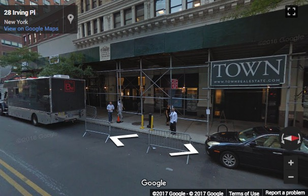 Street View image of 33 Irving Place, 3rd Floor, New York, New York State, USA