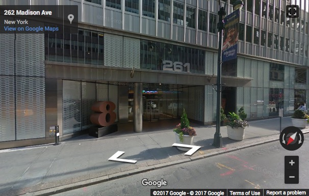 Street View image of WeWork Madison 9th Floor, 261 Madison Avenue, New York, New York State, USA