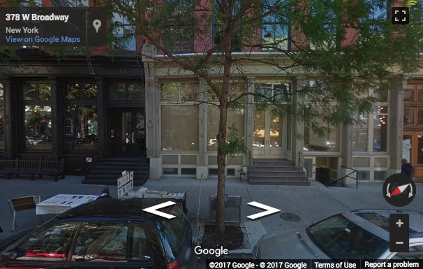 Street View image of West Broadway, 2nd floor, 379 West Broadway, New York, New York State, USA