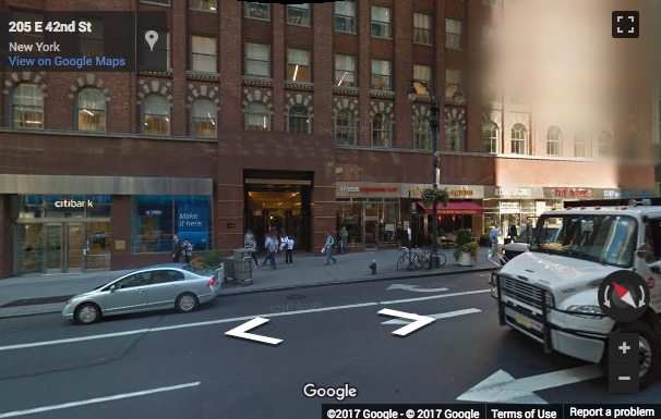 Street View image of 20th Floor, 205 East 42nd Street, New York, New York State, USA