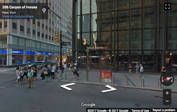 Street View image of Fulton Center, 2nd Floor, 200 Broadway, New York, New York State, USA