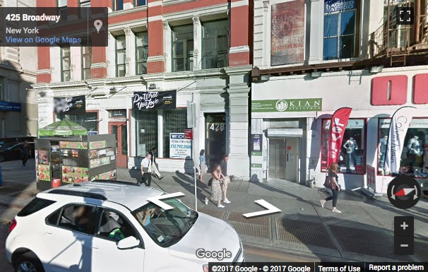 Street View image of 428 Broadway, 2nd Floor, Soho South, New York, New York State, USA