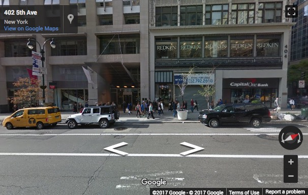 Street View image of 404 5th Avenue, 3rd Floor, New York, New York State, USA
