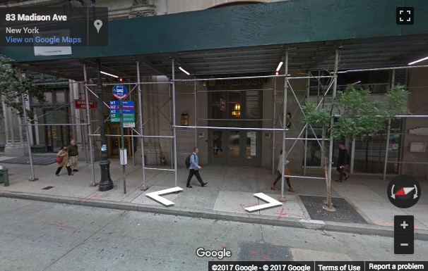 Street View image of 79 Madison Avenue, 1st floor, Nomad, New York, New York State, USA