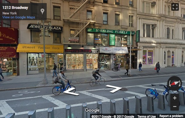 Street View image of 1204 Broadway, New York, New York State, USA