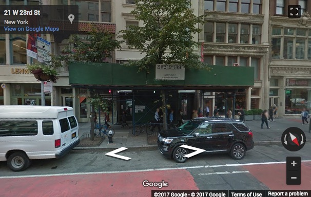 Street View image of 20 West 23rd Street, New York, New York State, USA