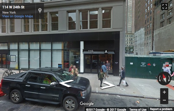 Street View image of 119 W 24th St, 4th Fl, New York, New York State, USA
