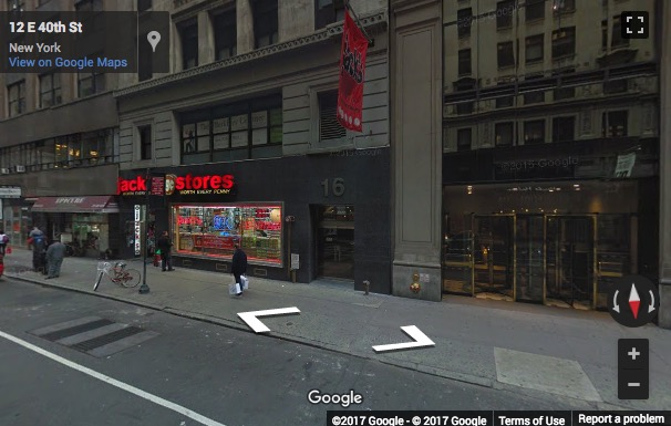 Street View image of 16 East 40th Street, Suite 804, New York, New York State, USA