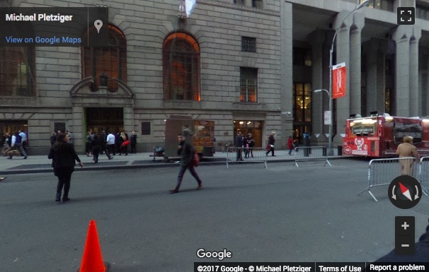 Street View image of 48 Wall Street, 5th Floor, New York, New York State, USA